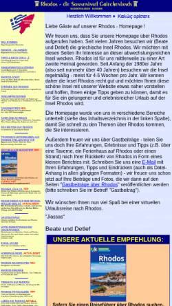 Vorschau der mobilen Webseite www.rhodos-info.de, Rhodos - Sonneninsel der Ägäis [Detlef Dittmer]