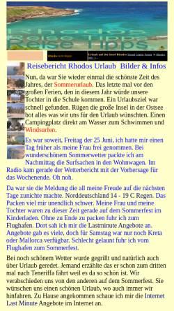 Vorschau der mobilen Webseite www.strelau.de, Rhodos nicht Rügen [Uwe Strelau]