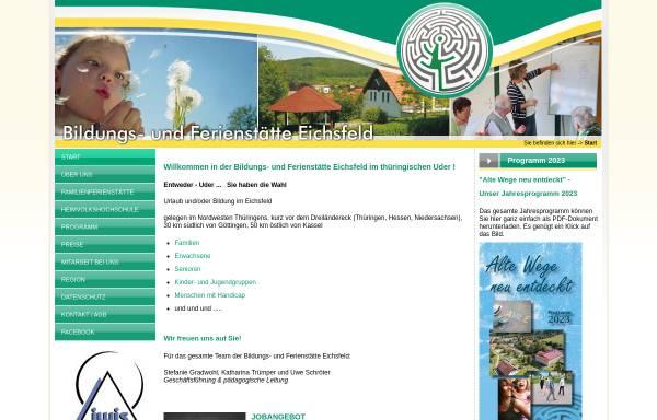 Vorschau von www.bfs-eichsfeld.de, Bildungs- und Ferienstätte Eichsfeld