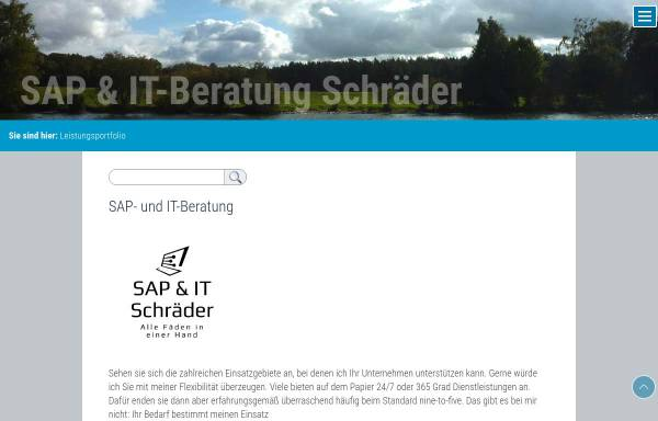 Vorschau von www.mschraeder.de, Schräder SAP Beratung