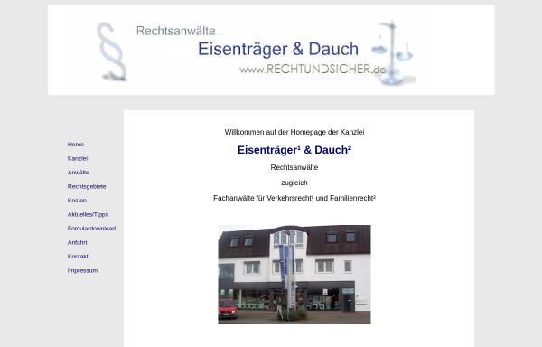 Vorschau von www.rechtundsicher.de, Rechtsanwälte Eisenträger & Dauch, Grünstadt