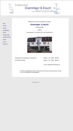Vorschau der mobilen Webseite www.rechtundsicher.de, Rechtsanwälte Eisenträger & Dauch, Grünstadt