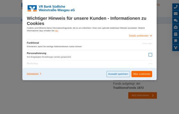 Vorschau von www.rvb-dahn.de, Raiffeisen- und Volksbank Dahn eG