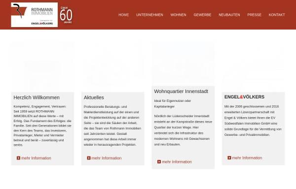Vorschau von www.rothmann-immobilien.de, Rothmann Immobilien GmbH