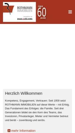 Vorschau der mobilen Webseite www.rothmann-immobilien.de, Rothmann Immobilien GmbH