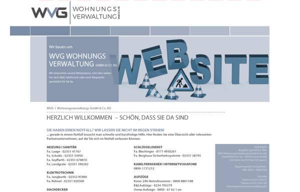 Vorschau von www.wvg-wohnungsverwaltung.de, WVG Wohnungsverwaltung KG