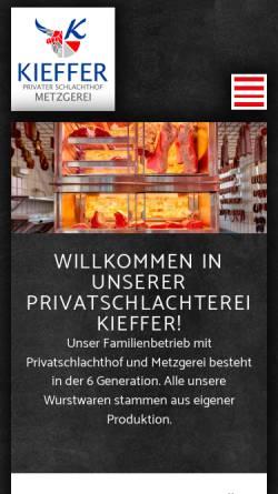 Vorschau der mobilen Webseite www.metzgerei-kieffer.de, Metzgerei Kieffer