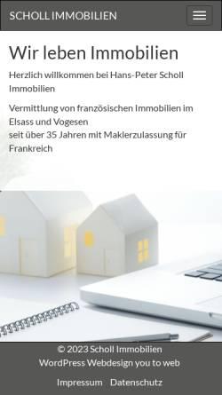 Vorschau der mobilen Webseite www.scholl-immobilien.de, Scholl Immobilien