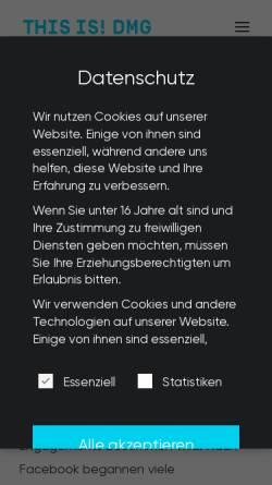 Vorschau der mobilen Webseite www.adgame-media.com, Adgame-media GmbH