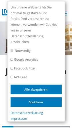 Vorschau der mobilen Webseite www.lomberg.de, Lomberg Immobilien KG