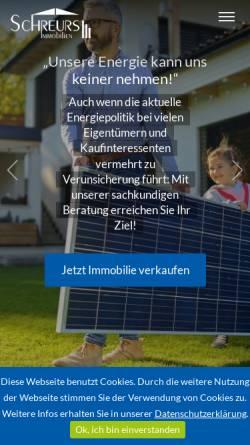 Vorschau der mobilen Webseite www.schreurs-immobilien.de, Schreurs Immobilien