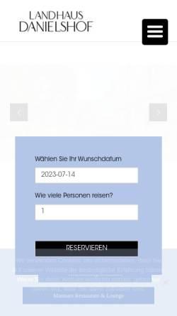 Vorschau der mobilen Webseite www.danielshof.de, Landhaus Danielshof