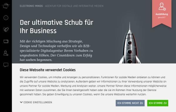 Vorschau von www.electronic-minds.de, Electronic Minds GmbH
