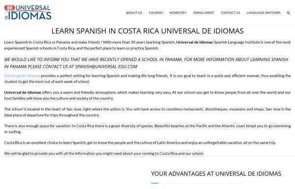 Vorschau von www.universal-edu.com, Instituto Universal de Idiomas
