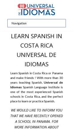 Vorschau der mobilen Webseite www.universal-edu.com, Instituto Universal de Idiomas