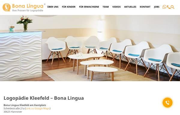 Vorschau von hannover-logopaedie.de, Bona Lingua - Raphaela Steinbrügge