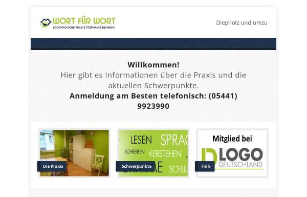 Vorschau von www.sprachtherapie-kreisdiepholz.de, Logopädische Praxis Ingrid Donnhauser