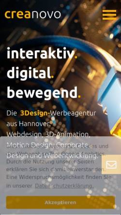 Vorschau der mobilen Webseite www.kreaktor.de, Kreaktor GmbH