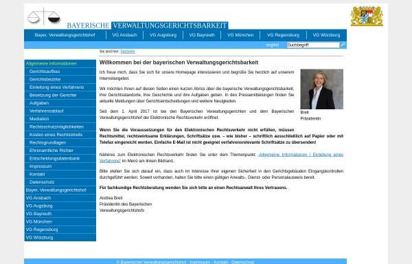 Vorschau von www.vgh.bayern.de, Bayerische Verwaltungsgerichtsbarkeit