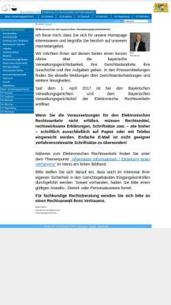 Vorschau der mobilen Webseite www.vgh.bayern.de, Bayerische Verwaltungsgerichtsbarkeit