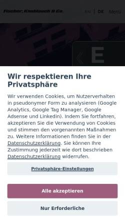 Vorschau der mobilen Webseite www.mainware.de, mainware Multimedia GmbH