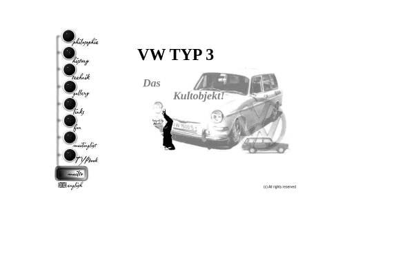 Vorschau von www.typ3.com, Original VW Typ 3 Seiten