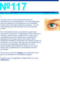 Vorschau der mobilen Webseite www.no117.de, No.117 - Kommunikationswerkstatt Dr. Ralf Bunse