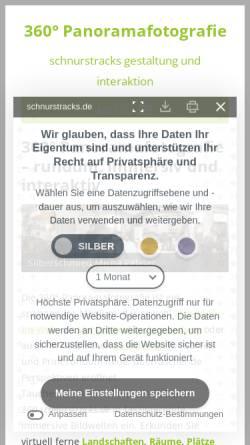 Vorschau der mobilen Webseite 360.schnurstracks.de, schnurstracks