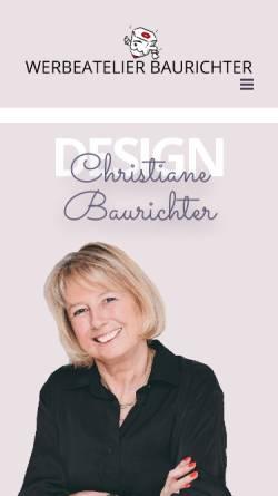 Vorschau der mobilen Webseite www.baurichter.de, Baurichter