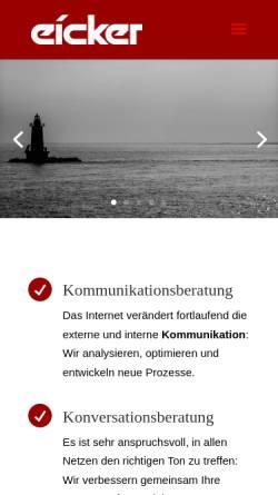 Vorschau der mobilen Webseite www.ewerx.com, Ewerx Communication