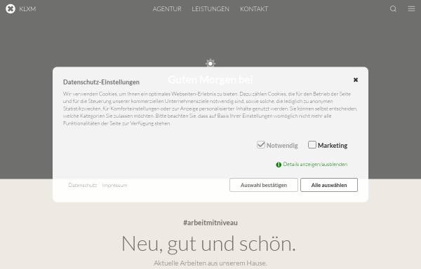 Vorschau von klxm.de, KLXM Crossmedia GmbH