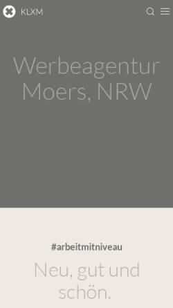 Vorschau der mobilen Webseite klxm.de, KLXM Crossmedia GmbH