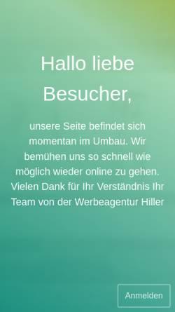 Vorschau der mobilen Webseite www.werbeagentur-hiller.de, Werbeagentur Hiller