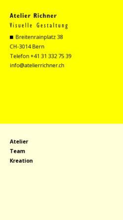 Vorschau der mobilen Webseite www.atelierrichner.ch, Atelier Richner