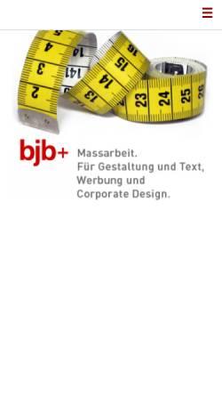 Vorschau der mobilen Webseite www.bjbplus.ch, Beat J. Brüderlin