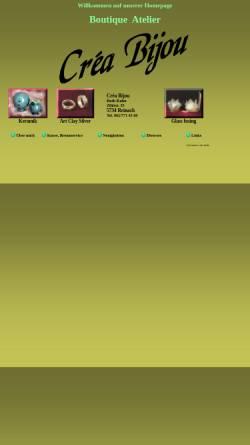 Vorschau der mobilen Webseite www.creabijou.ch, Boutique Atelier Créa Bijou