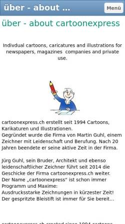 Vorschau der mobilen Webseite www.cartoonexpress.ch, Cartoonexpress