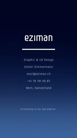 Vorschau der mobilen Webseite www.eziman.ch, Esther Zimmermann