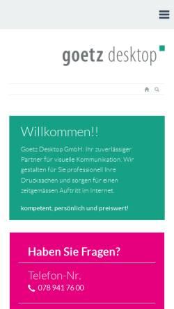 Vorschau der mobilen Webseite www.goetz-desktop.ch, Goetz Desktop GmbH