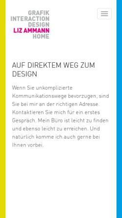 Vorschau der mobilen Webseite www.lizammann.ch, Liz Ammann