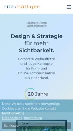 Vorschau der mobilen Webseite www.ritz-haefliger.ch, Ritz : Häfliger