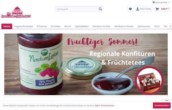Vorschau von www.schinkendiele.de, Die Ammerländer Schinkendiele