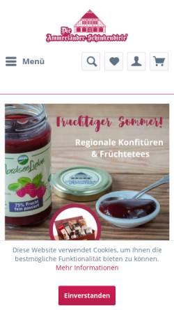 Vorschau der mobilen Webseite www.schinkendiele.de, Die Ammerländer Schinkendiele