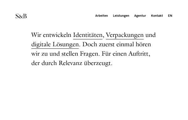 Vorschau von s-b.ch, Skouhus & Bombelli Graphic Designers