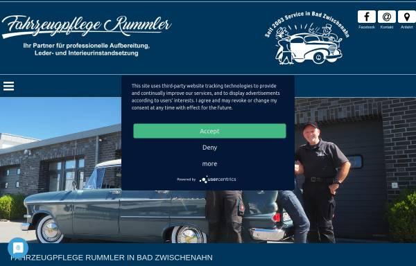 Vorschau von www.fahrzeugpflege-rummler.de, Fahrzeugpflege Rummler