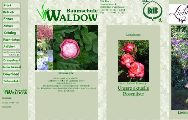 Vorschau von www.baumschule-waldow.de, Baumschule Waldow