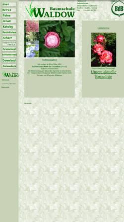 Vorschau der mobilen Webseite www.baumschule-waldow.de, Baumschule Waldow