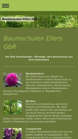 Vorschau der mobilen Webseite www.eilers-baumschulen.de, Baumschulen Eilers GbR