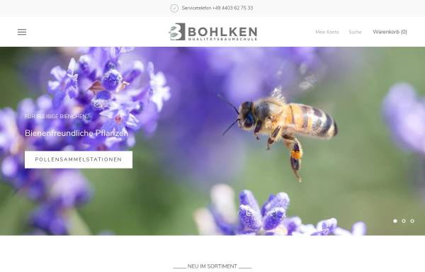 Vorschau von www.bohlken-baumschulen.de, Bohlken Baumschulen