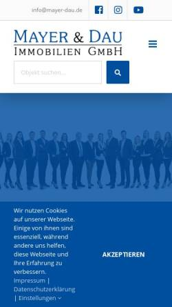 Vorschau der mobilen Webseite www.immobilien-mayer.de, Mayer Immobilien-Service GmbH